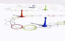 pegni di plastica in varia illustrazione di colori 3d Immagini Stock Libere da Diritti