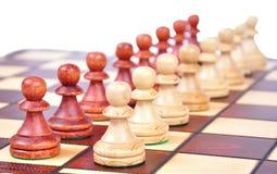 Pegni di scacchi Fotografia Stock Libera da Diritti