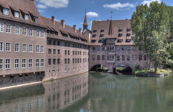 Pegnitz and Covered Bridge Stock Image