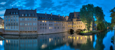 Pegnitz Panorama At Dusk Stock Photography