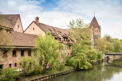 Pegnitz Riverbank Royalty Free Stock Image