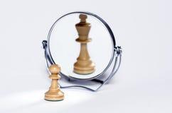 Pegno di scacchi, re di scacchi immagine stock
