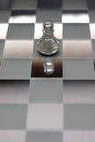 Pegno di scena di scacchi fotografie stock libere da diritti