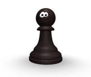 Pegno divertente di scacchi Immagini Stock Libere da Diritti