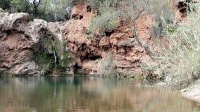 Pego do inferno waterfall landmark, in Tavira stock video