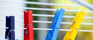 Pegs Royalty Free Stock Images