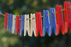 Pegs Stock Image