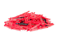 Pegs. Clothes pegs on white background Royalty Free Stock Photos
