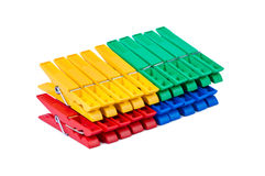 Pegs Bright Color Isolated. Royalty Free Stock Images