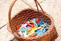 Pegs coloridos Fotos de Stock