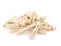 Pegs de madeira Fotos de Stock