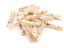 Pegs de madeira Imagens de Stock Royalty Free