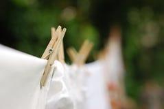 Pegs de madeira Foto de Stock Royalty Free