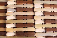 Pegs de madeira Foto de Stock