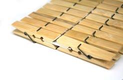 Pegs de roupa de madeira Imagem de Stock