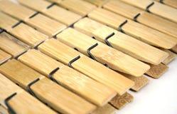 Pegs de roupa de madeira Fotos de Stock