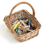 Pegs In A Basket Royalty Free Stock Photography