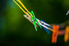 pegs and washing line Royalty Free Stock Photos
