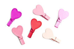 Pegs With A Heart. Royalty Free Stock Photos