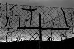 Pegue los símbolos cruzados de los peregrinos la manera de San Jaime Imágenes de archivo libres de regalías