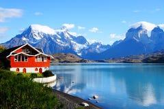Озеро Pehoe, национальный парк Torres Del Paine, Патагония, Чили Стоковое Изображение