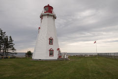 PEI's oldest wooden lighthouse of Panmure Island Royalty Free Stock Photo