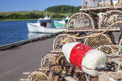 PEI Lobster Traps Royalty Free Stock Photography