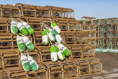 PEI Lobster Traps Royalty Free Stock Images