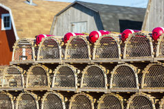 PEI Lobster Traps Stock Photos