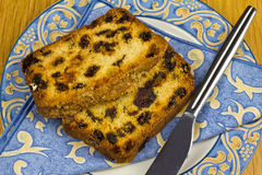 Peice of Cake. A couple of slices of rich fruity loaf cake Stock Photography
