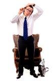 Peignée de l'homme d'affaires Image stock