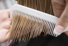 Peignée du cheveu Photographie stock libre de droits
