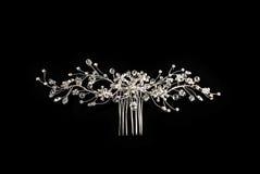 Peigne de diamant pour le cheveu Image libre de droits