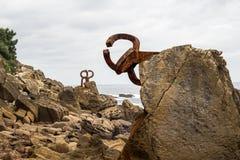 Peigne des vents - Peine de los Vientos en San Sebastian Donostia Spain photographie stock
