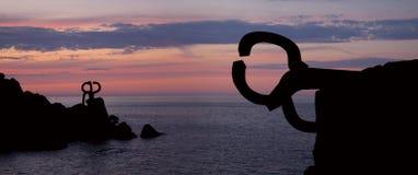 Peigne du vent (Peine del viento, Chillida). Photographie stock libre de droits