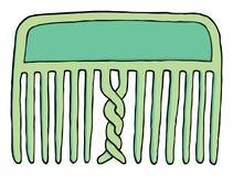 Peigne embrouillé confus illustration de vecteur