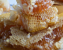 Peigne empilé de miel Photos libres de droits