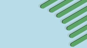 Peigne en plastique vert sur un fond bleu Image libre de droits