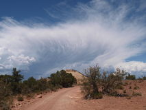 Peigne Ridge Clouds Photo stock