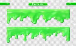 Peignez l'égoutture Surface brillante Ensemble de vecteur ENV 10 illustration stock