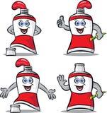 Peignez la mascotte de tube Illustration Libre de Droits