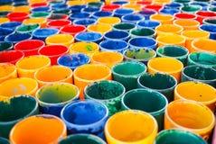 Peignez la palette de couleurs en verre Photos libres de droits