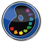 Peignez la palette et les couleurs Images libres de droits