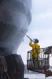 Peignez le bateau prêt Photo stock