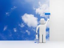 peignez le ciel de personne Image libre de droits