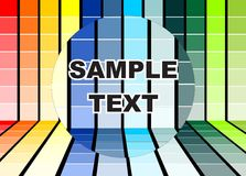 Peignez le fond de couleurs Images stock