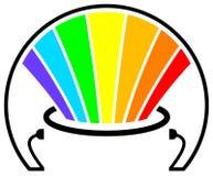 Peignez le logo illustration stock