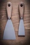 Peignez les grattoirs avec les poignées en bois Image libre de droits