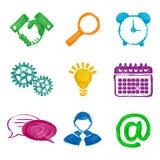 Peignez les icônes d'affaires Image stock