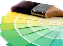 Peignez les jaunes d'échantillonneur Images libres de droits